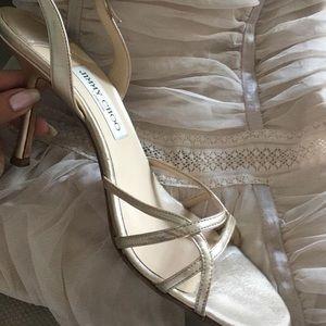 gold jimmy choo strappy heels